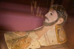 Маски Fayum похоронные - египетский музей стоковая фотография rf