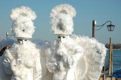 масленица ангелов маскирует белизну 2 venice Стоковые Фото