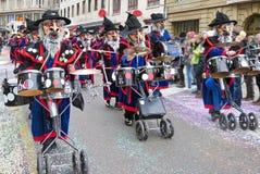 Масленица Базеля - барабанщиков Стоковое Изображение RF