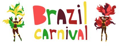 Масленица Бразилии, горизонтальные знамена, набор шаблона плаката изолированный на черной предпосылке с резиной иллюстрация штока