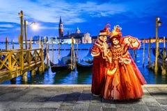 Масленица 2018 Венеции, аркада Сан Marco, Италия Стоковое Фото