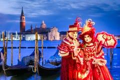 Масленица 2018 Венеции, аркада Сан Marco, Италия Стоковые Фотографии RF