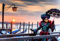 Масленица 2018 Венеции, аркада Сан Marco, Италия Стоковые Фото