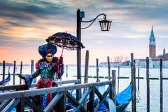 Масленица 2018 Венеции, аркада Сан Marco, Италия Стоковая Фотография RF