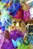 Масленица 2017 Венеции venetian черного costume масленицы красное маска масленицы venetian Италия venice Стоковые Фотографии RF