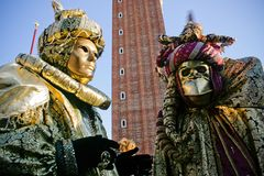 масленица костюмирует venetian Стоковые Фотографии RF