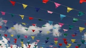 Масленица празднует флаги партии знамени сток-видео