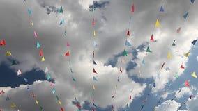 Масленица празднует флаги партии знамени акции видеоматериалы