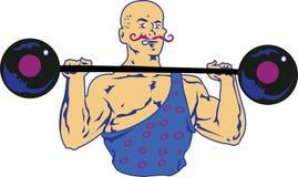 Масленица сильного человека стоковое изображение