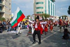 Масленица улицы - болгарские традиционные costumes Стоковые Изображения