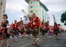 Масленица улицы - болгарские традиционные costumes Стоковая Фотография