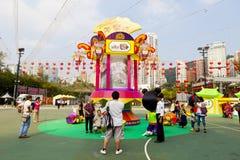 Масленица фонарика Средний-Осени в Hong Kong Стоковое Изображение