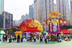 Масленица фонарика Средний-Осени в Hong Kong Стоковое фото RF