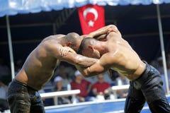 маслообразный turkish wrestling стоковое изображение rf