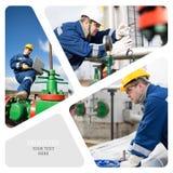 масло газовой промышленности Стоковая Фотография