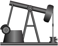 масло деррика-кран иллюстрация штока
