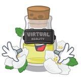 Масло жасмина виртуальной реальности в форме мультфильма иллюстрация штока