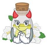 Масло жасмина дьявола в форме мультфильма иллюстрация штока