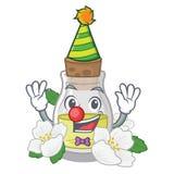 Масло жасмина клоуна изолированное в мультфильме иллюстрация вектора