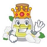 Масло жасмина короля изолированное в мультфильме иллюстрация вектора