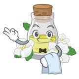 Масло жасмина официанта в форме мультфильма иллюстрация вектора