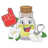 Масло жасмина пальца пены изолированное в мультфильме бесплатная иллюстрация