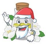 Масло жасмина Санта изолированное в мультфильме иллюстрация штока