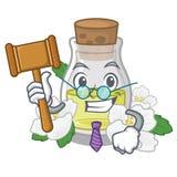 Масло жасмина судьи изолированное в мультфильме иллюстрация штока