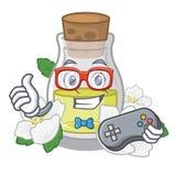 Масло жасмина Gamer в форме мультфильма иллюстрация штока