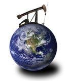масло земли деррика-кран стоковое изображение rf
