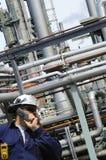 масло индустрии инженера Стоковая Фотография RF
