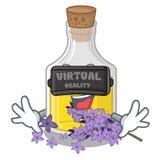 Масло лаванды виртуальной реальности в форме характера бесплатная иллюстрация
