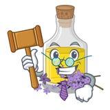 Масло лаванды судьи над таблицей макияжа мультфильма иллюстрация штока