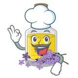 Масло лаванды шеф-повара изолированное с талисманом бесплатная иллюстрация