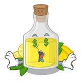 Масло лимона глаза денег полило внутри стекло мультфильма иллюстрация вектора