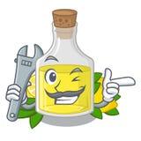 Масло лимона механика полило внутри стекло мультфильма бесплатная иллюстрация