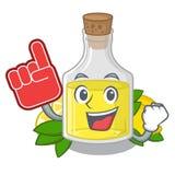 Масло лимона пальца пены полило внутри стекло мультфильма бесплатная иллюстрация