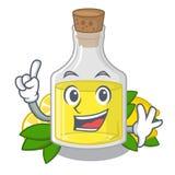 Масло лимона пальца полило внутри стекло мультфильма бесплатная иллюстрация