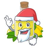 Масло лимона Санта полило внутри стекло мультфильма бесплатная иллюстрация