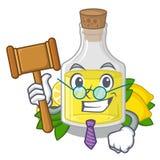 Масло лимона судьи полило внутри стекло мультфильма иллюстрация вектора