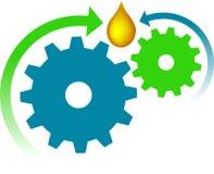 масло логоса шестерни Стоковое Фото