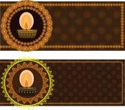масло мандала светильников diwali конструкции Стоковая Фотография