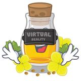 Масло мустарда виртуальной реальности в оболочке в коробке талисмана иллюстрация штока
