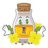 Масло мустарда глаза денег в форме мультфильма иллюстрация вектора