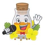 Масло мустарда петь в оболочке в коробке талисмана бесплатная иллюстрация