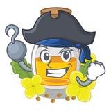Масло мустарда пирата упакованное в бутылке коробки иллюстрация штока