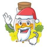 Масло мустарда Санта в форме мультфильма иллюстрация штока