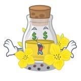 Масло семени глаза денег канола на мультфильме иллюстрация вектора
