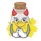 Масло семени дьявола канола в форме характера бесплатная иллюстрация
