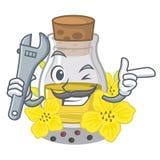 Масло семени механика канола на мультфильме иллюстрация штока